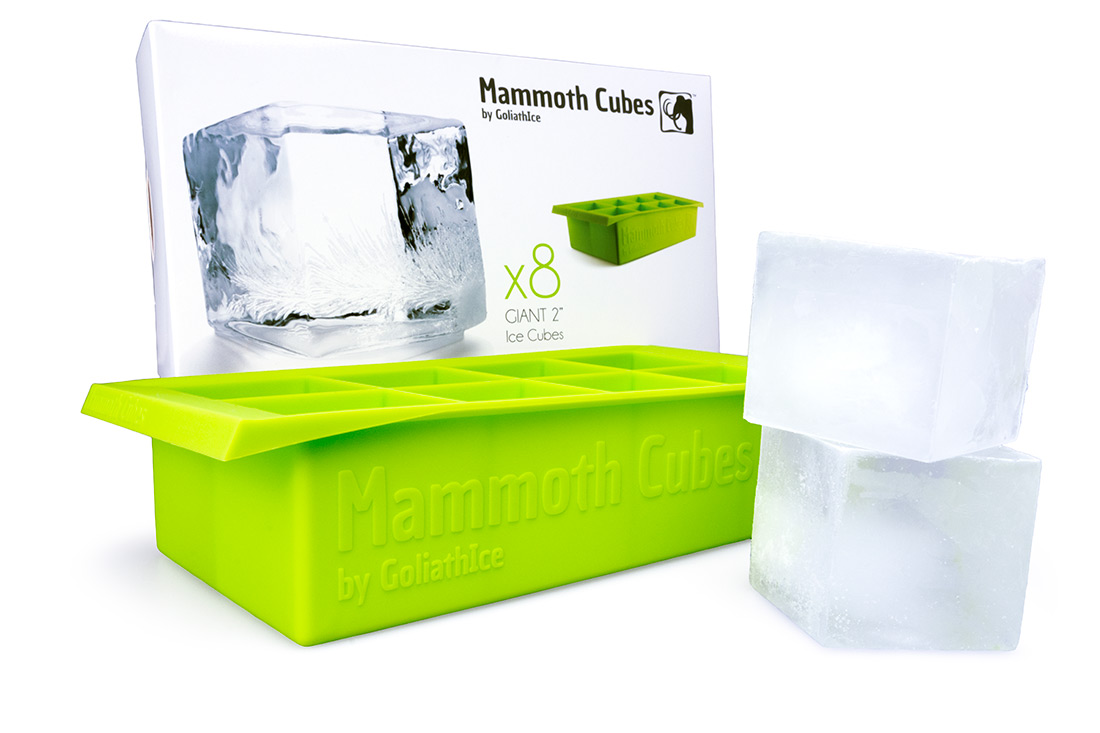 mammoth cubes - giant 2 inch ice cube tray - goliath ice
